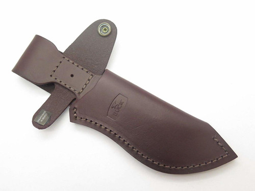 BUCK 488 087 085 ERGO HUNTER PRO BURGUNDY LEATHER FIXED BLADE KNIFE SHEATH