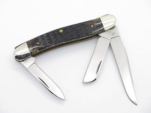 Vtg 1980 Case XX 6318 Stockman Jigged Bone Folding Pocket Knife N. Mint
