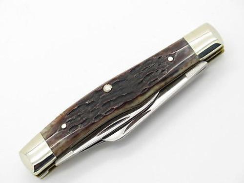 Vtg 1980 Case XX 63032 Medium Stockman Jigged Bone Folding Pocket Knife