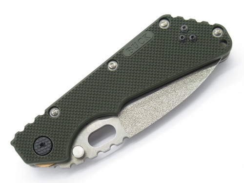 BUCK 889 0889BO4 TARANI STRIDER OD GREEN ATS-34 FOLDING KNIFE CUSTOM BUILDOUT