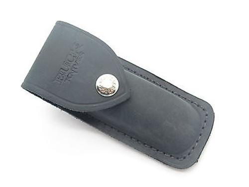 Buck 500 532 Duke Bucklock Distressed Black Leather Folding Knife Sheath