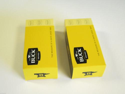 """LOT of 2 BUCK 5"""" long KNIFE BOX FOLDING HUNTER RANGER 450 500 426 422 112"""
