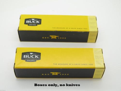 "LOT of 2 BUCK 4.5"" long KNIFE BOX FOLDING POCKET KNIFE THE 55 505 503 301"
