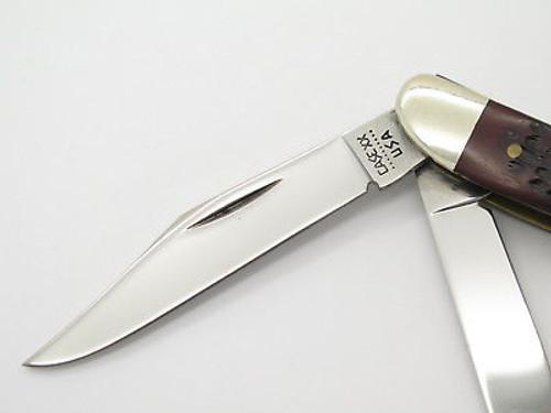 Vintage 1980 Case XX 087 Stockman Jigged Delrin Folding Pocket Knife -near Mint
