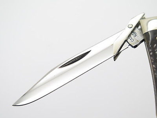 VTG 1976 CASE XX 6111 1/2 BROWN BONE CHEETAH SWING GUARD FOLDING POCKET KNIFE