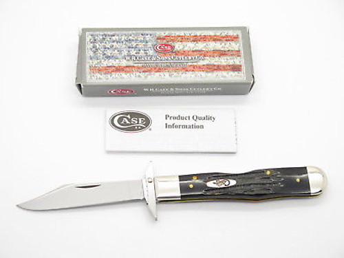 2014 Case XX 6111 1/2 Cheetah Buffalo Horn Swing Guard Folding Knife