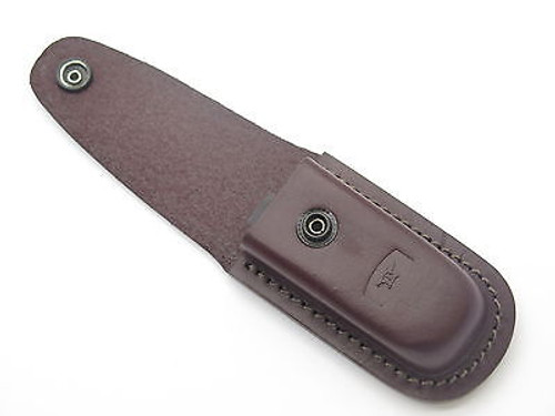BUCK 598 588 ERGO PRO BROWN LEATHER FOLDING HUNTER KNIFE SHEATH