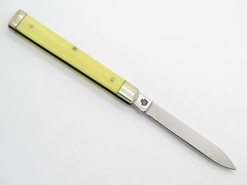 2001 Case XX 3185 Yellow Delrin Doctor Folding Pocket Knife