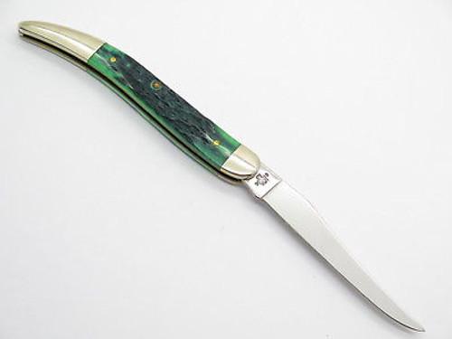 2001 LIMITED CASE XX 610094 BLUEGRASS GREEN TOOTHPICK FOLDING POCKET KNIFE