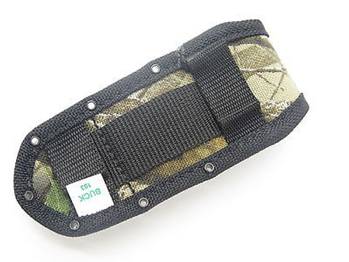 BUCK 460 183 CROSSLOCK CAMO NYLON FOLDING POCKET KNIFE SHEATH