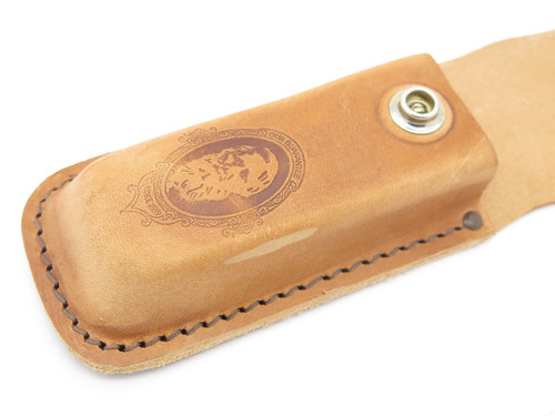 "Case XX 6265 Brown Natural Leather 5 1/4"" Folding Hunter Camp Knife Sheath"