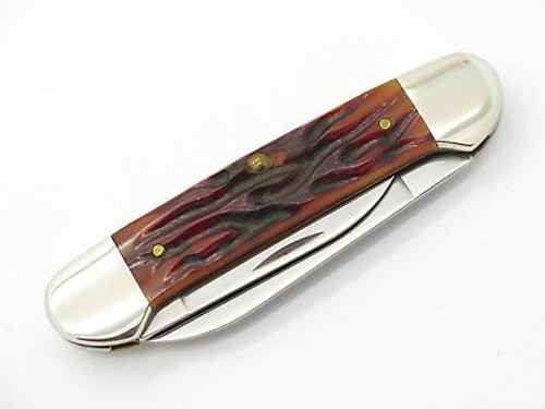 1998 Case XX 62131 Worm Groove Bone Canoe Folding Pocket Knife