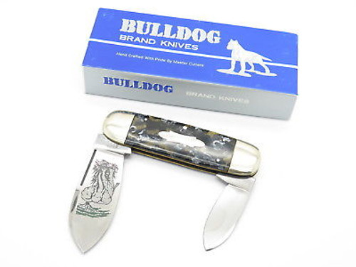 5th Gen. Bulldog Brand Prototype Elephant Toenail Sunfish Knife In Case