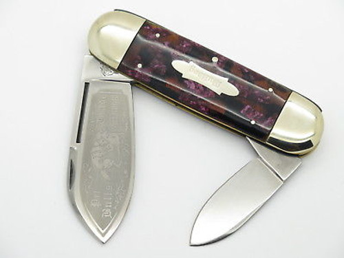 VTG 1995 BULLDOG BRAND PROTOTYPE ELEPHANT TOENAIL SUNFISH KNIFE in CASE