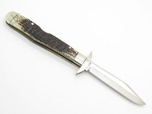 Vtg 1979 Case XX 6111 1/2 Bone Cheetah Swing Guard Folding Pocket Knife