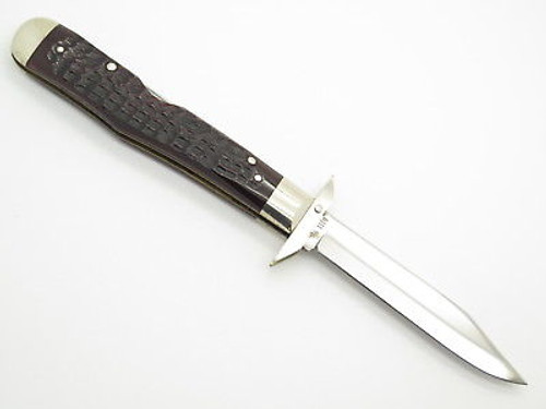 Vintage 1976 Case XX 6111 1/2 Cheetah Bone Swing Guard Folding Pocket Knife