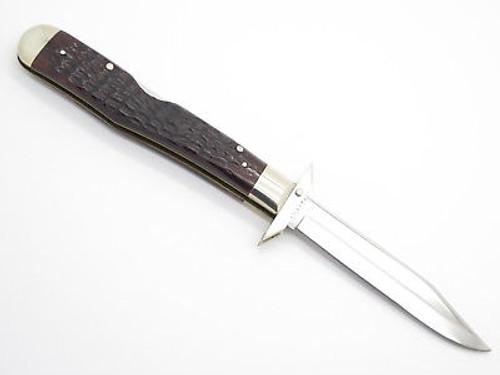 Vtg 1974 Case XX 6111 1/2 Bone Cheetah Swing Guard Folding Pocket Knife