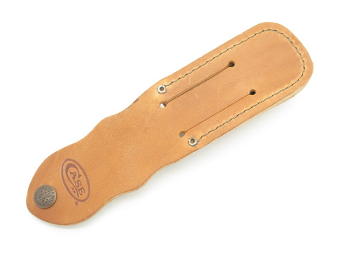 "CASE XX TRAPPER LEATHER FOLDING KNIFE SHEATH fits 4 1/4"" long CAMP KNIFE"
