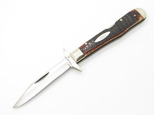 Vtg 1973 Case XX 6111 1/2 Bone Cheetah Swing Guard Folding Pocket Knife