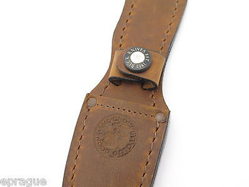 BUCK 493 WATERFOWLER LEATHER FIXED BLADE HUNTING CAPING KNIFE SHEATH BLEMISH