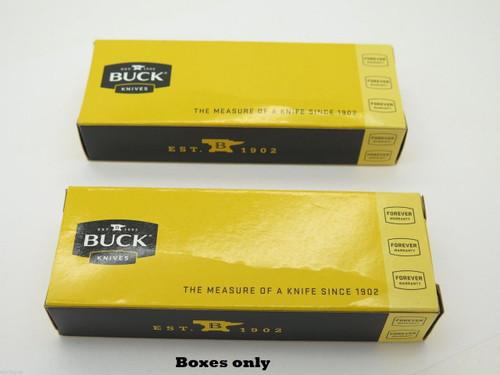 "Lot Of 2 Buck 5.25"" Long Knife Box Folding Pocket Knife Parallex 318 871"