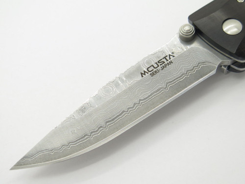 MCUSTA SEKI JAPAN BASIC MC-0013D EBONY & VG-10 DAMASCUS FOLDING POCKET KNIFE