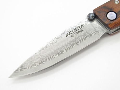 Mcusta Seki Japan Tsuchi MC-77DR Rosewood & VG-10 Damascus Folding Pocket Knife