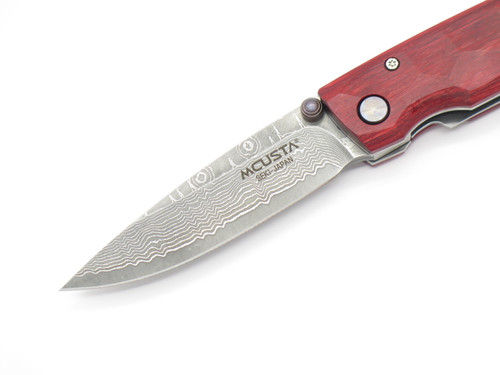 Mcusta Seki Japan Tsuchi MC-78D Staminawood VG-10 Damascus Folding Pocket Knife