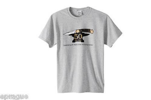Buck Med T-shirt Shirt 50th Anniversary 110 Folding Hunter Knife Collector 112
