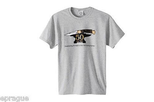 Buck Small T-shirt Shirt 50th Anniversary 110 Folding Hunter Knife Collector 112