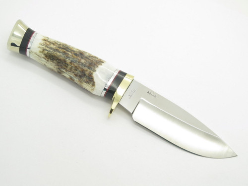 Buck 192 Vanguard BG-42 Elk Stag Custom Shop Fixed Blade Hunting Knife
