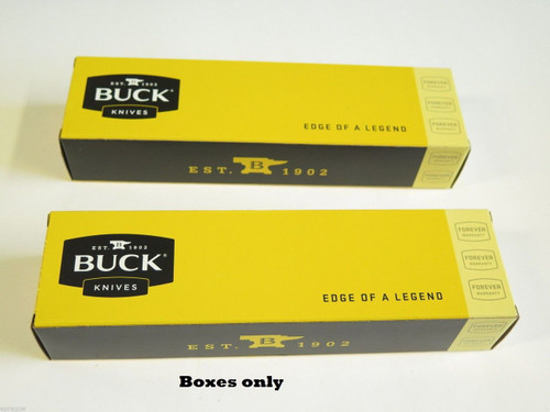 "LOT of 2 BUCK 10"" KNIFE BOX FOLDING HUNTER RANGER 110 112 102 419 191 192"