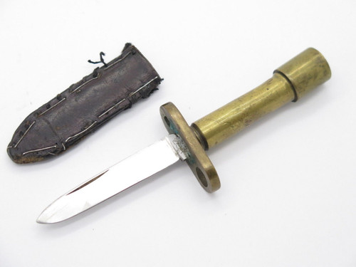 VINTAGE WWII THEATER KNIFE SMALL MINI MINIATURE BAYONET FIXED KNIFE BULLET HANDLE