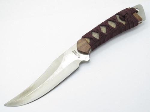 IC.Cut IC-102 Seki Japan VG-10 San Mai Damascus Fixed Blade Hunting Knife Sheath