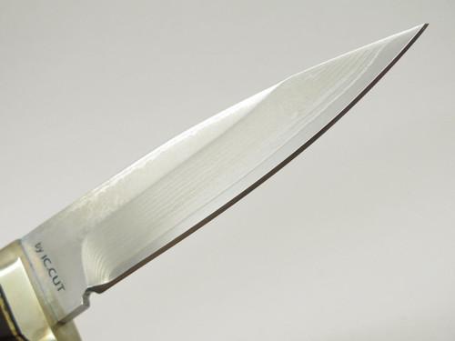 IC.CUT IC-601G Hiro Seki Japan VG-10 San Mai Damascus Fixed Blade Hunting Knife