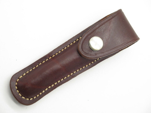Timberline Slim Leather Folding Knife Sheath For Sharpening Steel Tactical Pen