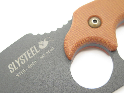 Slysteel Tops STHI Shark Tooth Fixed Blade Hunter Survival Knife Low Sn 0009