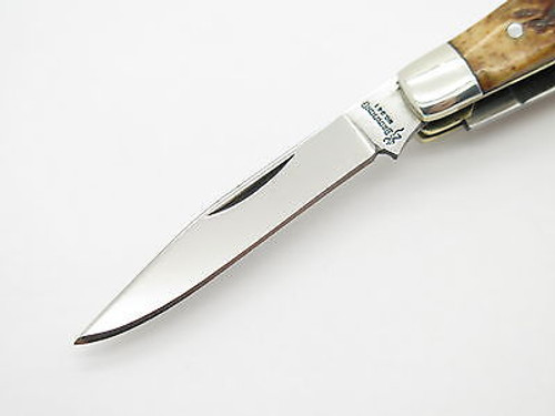 BROWNING 341 IMAI SEKI JAPAN AUS-8A BONE FOLDING STOCKMAN POCKET KNIFE