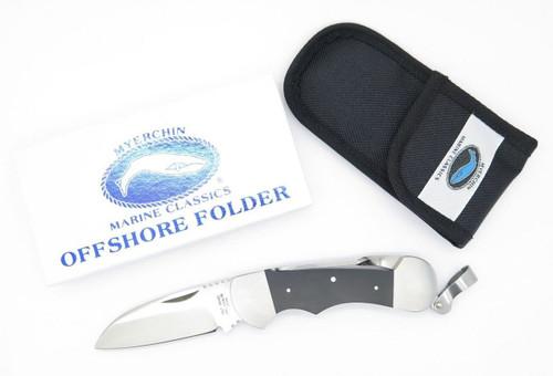 Japan Myerchin Marine Offshore Folder Sailor Rigging Yachtsman Knife & Hook