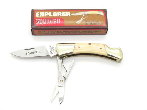 Gutmann Explorer 11-392 Seki Japan Squire II Micarta Pocket Knife Parker