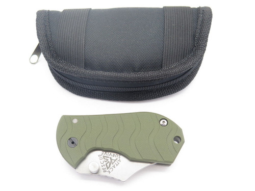ARS ATTACK RECUE SURVIVE CUSTOM FLIP SHANK TITANIUM FRAMELOCK KNIFE 154CM GREEN