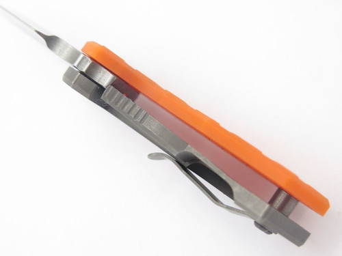 ARS Attack Recue Survive Custom Flip Shank Titanium Framelock Knife 154CM Orange