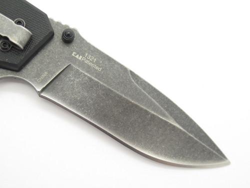 "KERSHAW KAI 1321 BLACK 4.75"" FOLDING POCKET KNIFE SPEEDSAFE ASSISTED TACTICAL"
