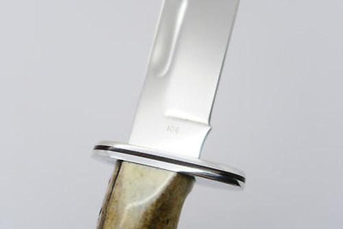 Vtg 1982 Buck 119 Special Custom Shop Fixed Blade Sambar Stag Hunting Knife