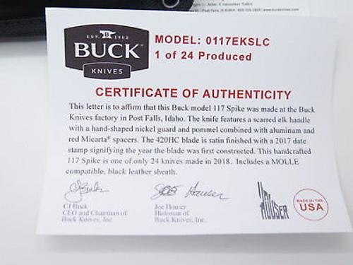 CUSTOM BUCK 117 117EKSLC SPIKE BRAHMA 420HC LIMITED ELK STAG HUNTING KNIFE 102