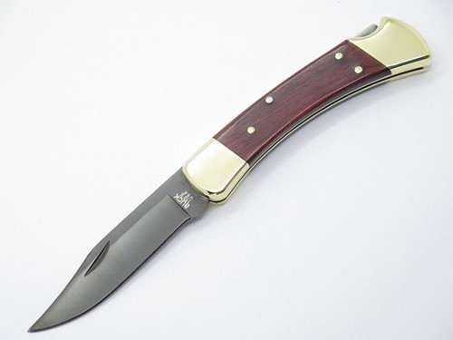 BUCK 110 FOLDING HUNTER LOCKBACK KNIFE ROSEWOOD & S30V BLADE - FACTORY 2nd