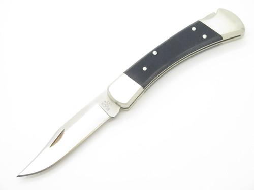 BUCK 110 111BKSNS PRO FOLDING HUNTER LOCKBACK KNIFE NICKEL SILVER BLACK G10 S30V