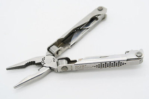 Vintage SOG USA Paratool Blackie Collins Folding Knife Multi Tool Pliers & Sheath