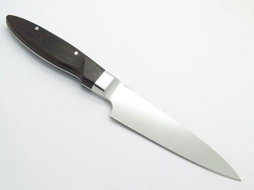 "Vtg Seki Cut Sanetsu Santoku Seki Japan Fixed 5"" Blade Knife Kitchen Cutlery"