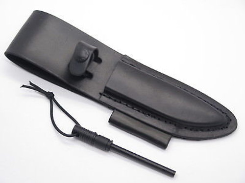 """Schrade LS56L Leather Fixed 4.5"""" Blade Hunting Knife Sheath For F56L Frontier"""
